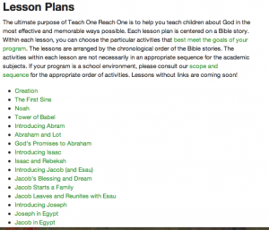 The 20% in Bible Classes for Kids and Teens- Teach One Reach One