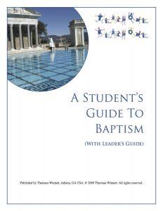 Free Baptism Study - Teach One Reach One
